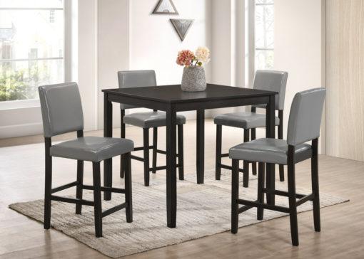 McAllen Furniture - pub table set,mcallen furniture winner table set,grey espresso pub table set
